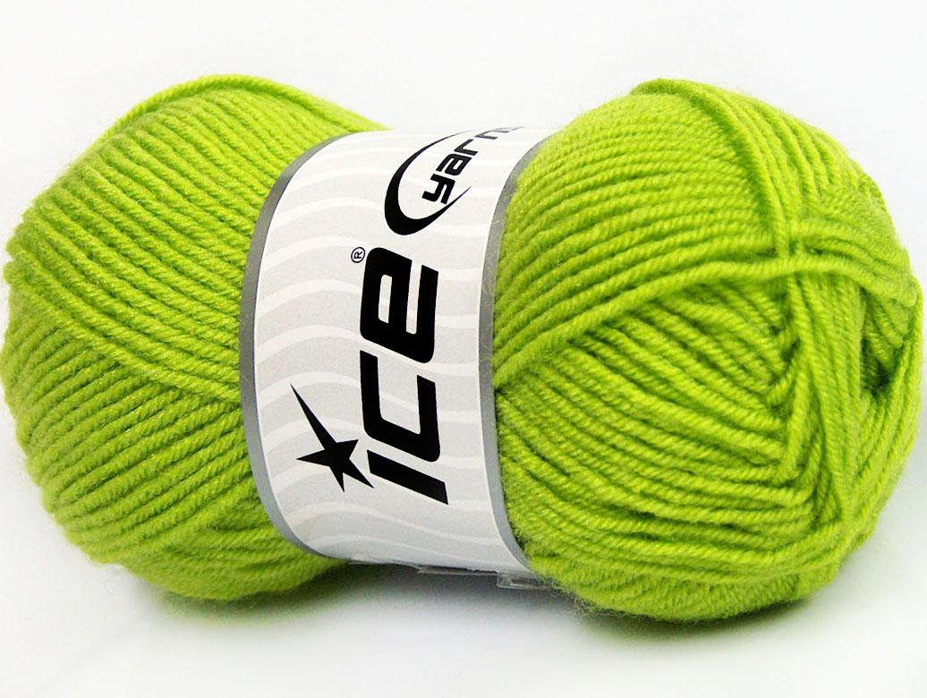 Grönt Garn Baby Wool