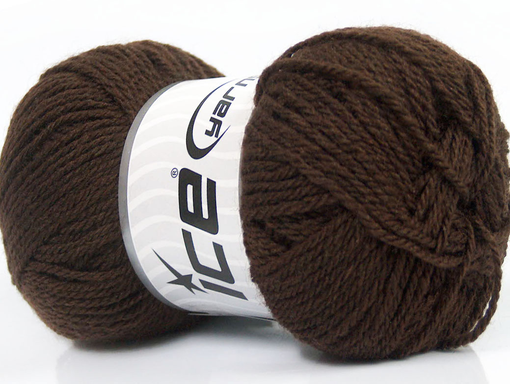 Mörkbrunt Garn Baby Wool
