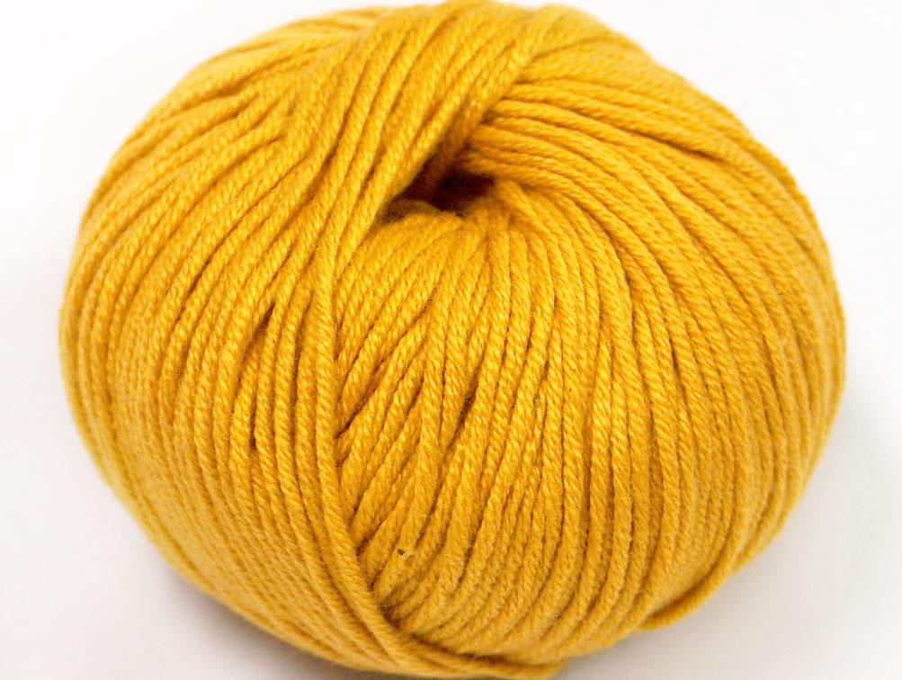 Mörkgult Garn Amigurumi Cotton