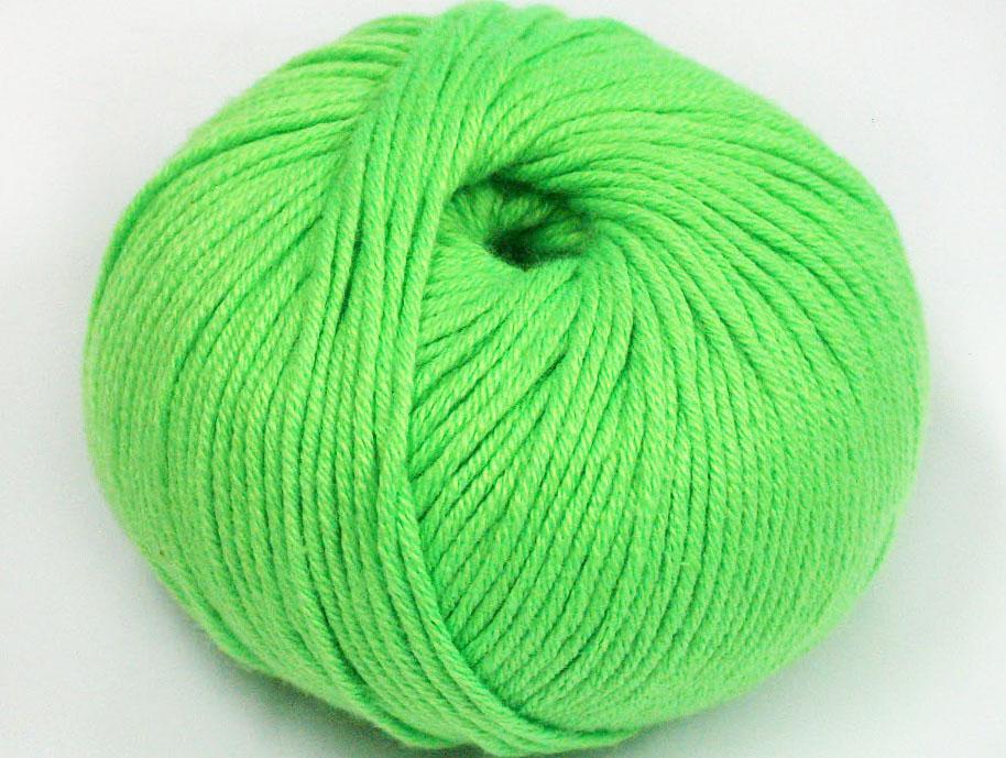 Neongrönt Garn Amigurumi Cotton