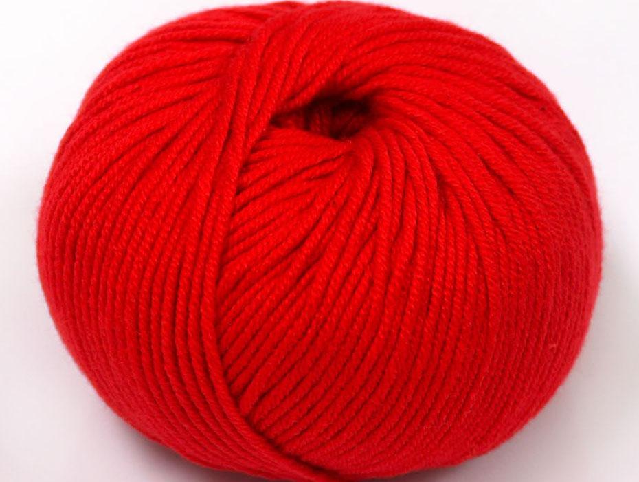 Rött Garn Amigurumi Cotton